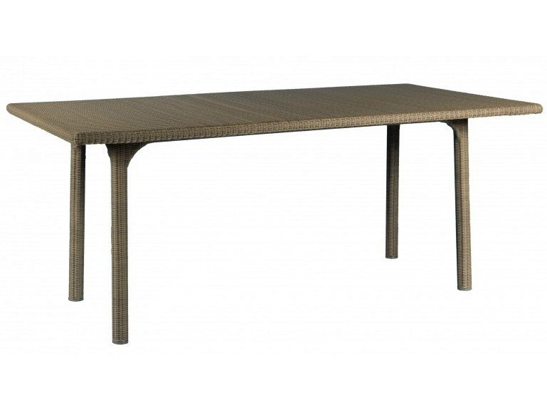 Rectangular resin garden table SHANGHAI | Rectangular table - Tectona