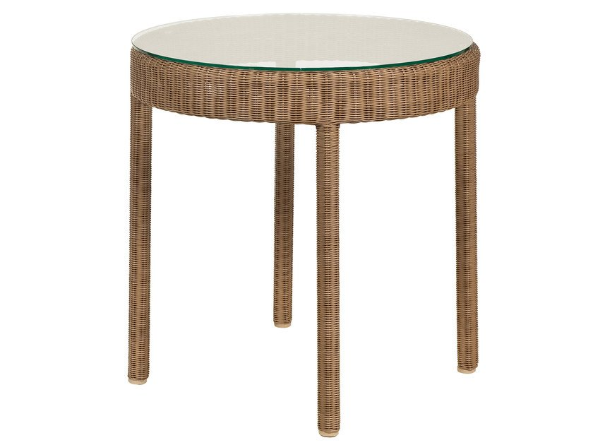 Round resin garden side table SHANGHAI | Side table by Tectona