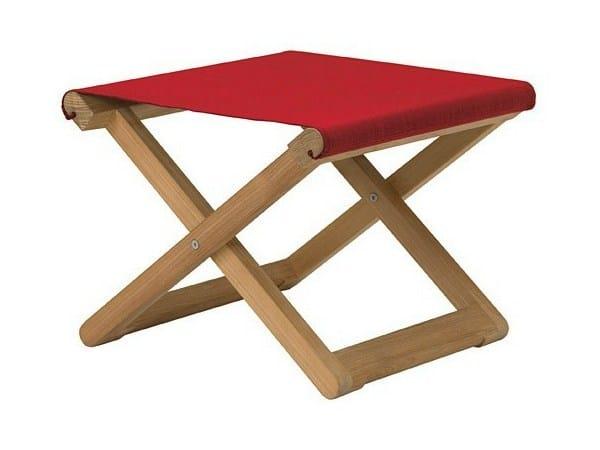 Rectangular teak garden footstool COPACABANA | Garden footstool - Tectona