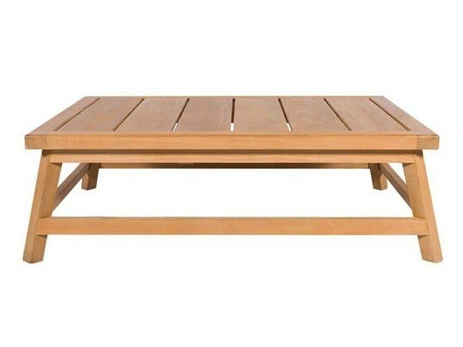 Low rectangular teak garden side table SOMERSET | Rectangular coffee table - Tectona