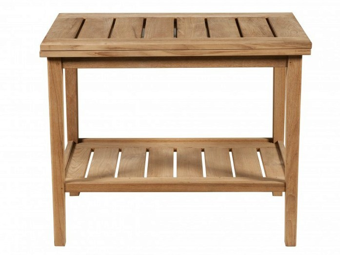 Low teak garden side table EXETER | Low coffee table by Tectona