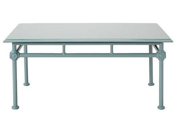Low rectangular aluminium garden side table 1800 | Rectangular coffee table - Tectona