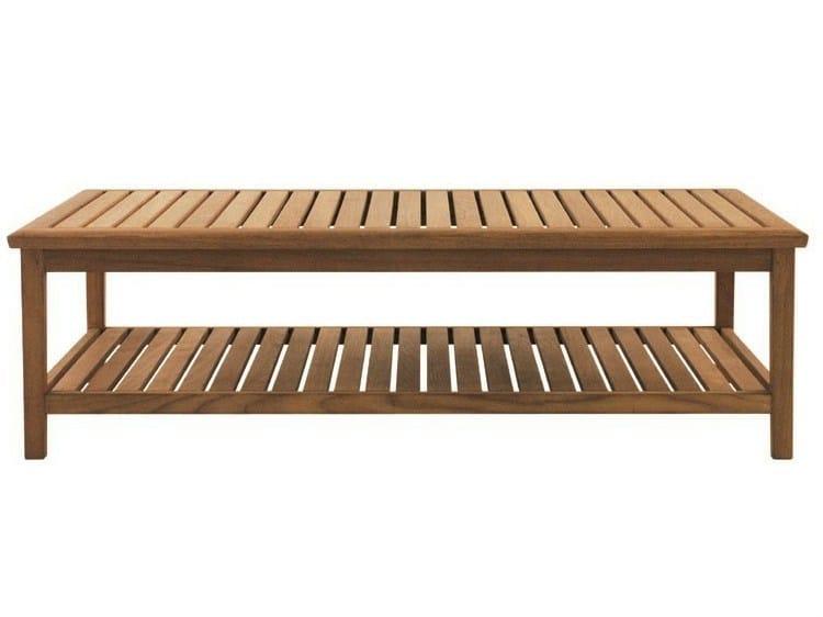 Low rectangular teak garden side table DUXFORD | Rectangular coffee table - Tectona