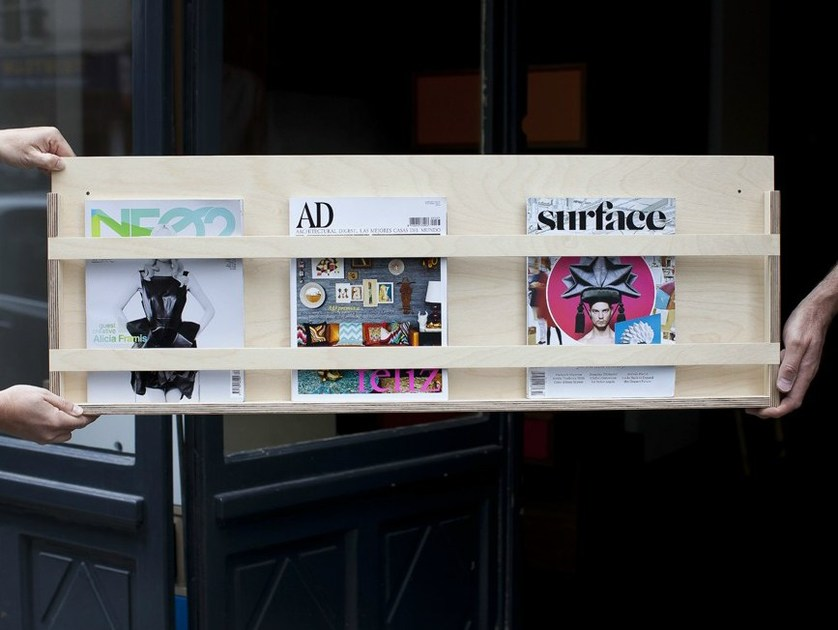 Contemporary style wooden magazine rack LE SIMPLE by MALHERBE EDITION