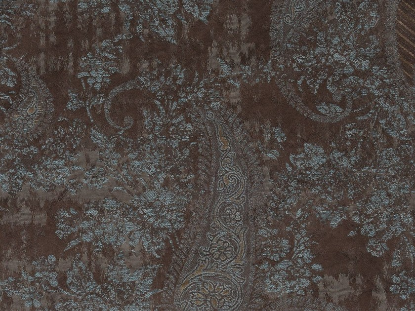 Damask cotton fabric DORRIT MEWS VERSO - KOHRO