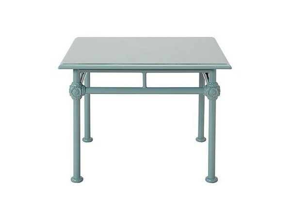 Low square aluminium garden side table 1800 | Square coffee table by Tectona