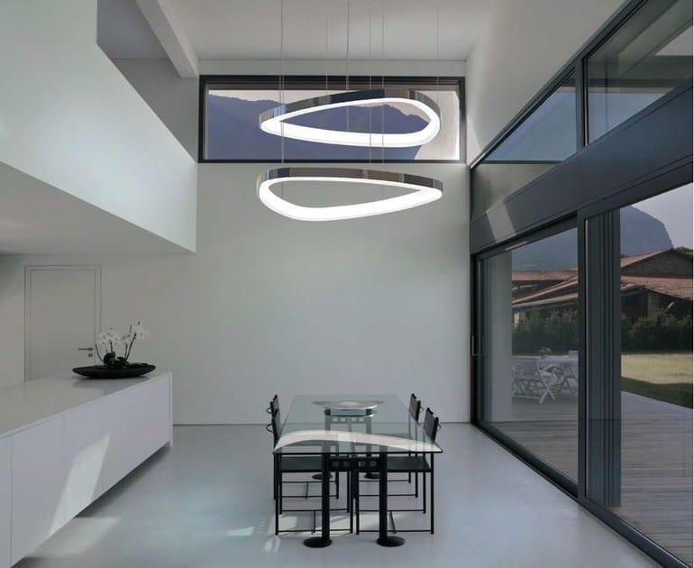 LED aluminium pendant lamp SOFT DELTA | Pendant lamp - Sattler