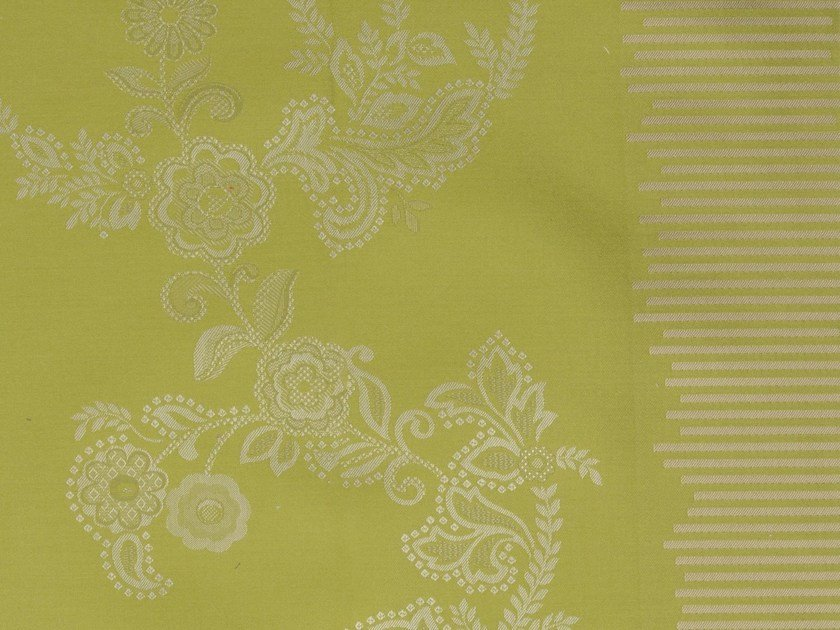Damask cotton fabric COTE VERMEILLE VERSO - KOHRO