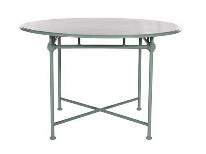 Round aluminium garden table 1800 | Round table by Tectona