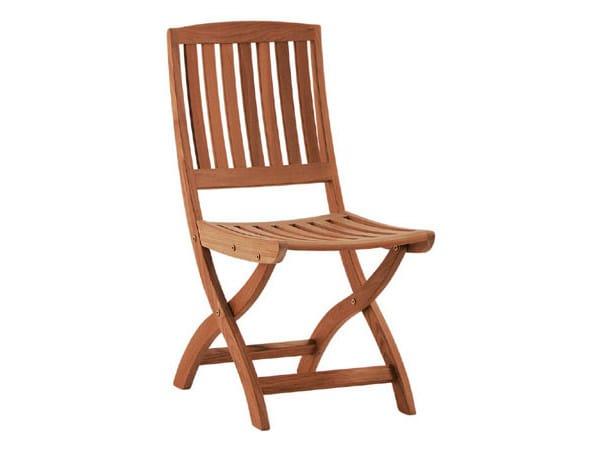 Folding teak garden chair BARTON   Garden chair - Tectona
