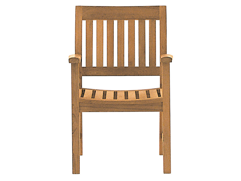 Teak garden chair with armrests BAMPTON | Chair with armrests - Tectona