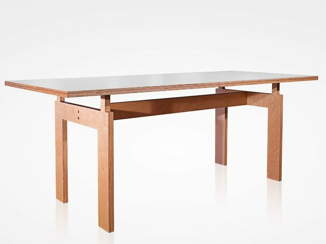 Rectangular multi-layer wood table T1 | Table by MALHERBE EDITION
