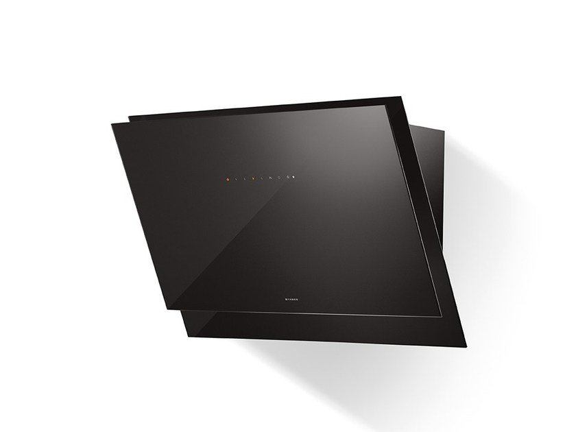Wall-mounted glass cooker hood BLACK TIE - FABER