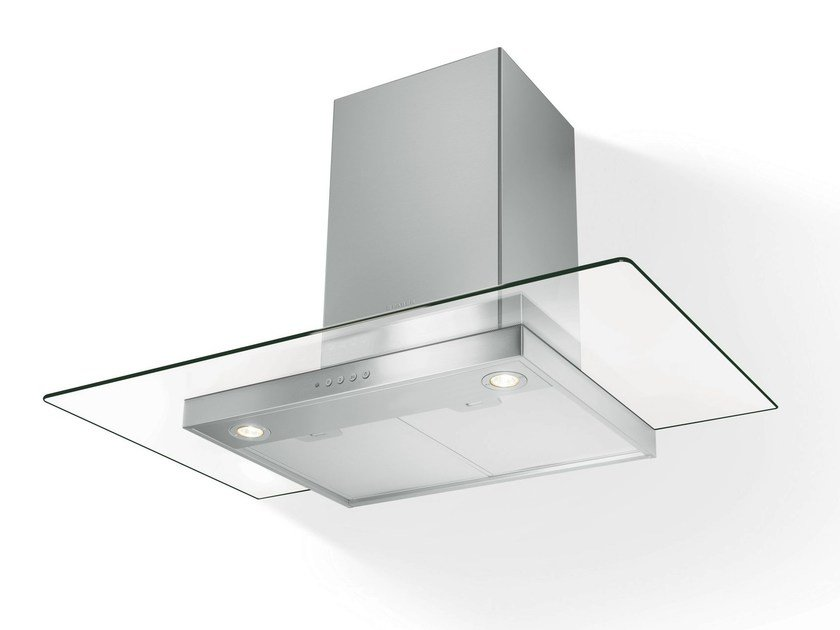Wall-mounted Glass and Stainless Steel cooker hood CLEAR - FABER