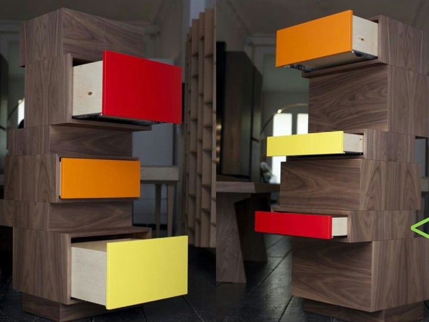Modular wooden chest of drawers TIROUAR by MALHERBE EDITION
