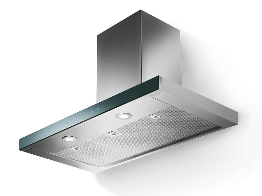Wall-mounted Glass and Stainless Steel cooker hood LOOK | Wall-mounted cooker hood - FABER