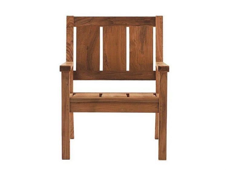 Teak garden armchair with armrests SOMERSET | Garden armchair - Tectona