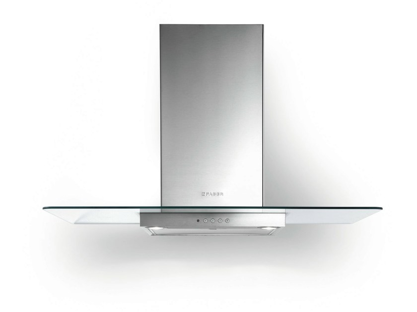 Wall-mounted Glass and Stainless Steel cooker hood NICE - FABER