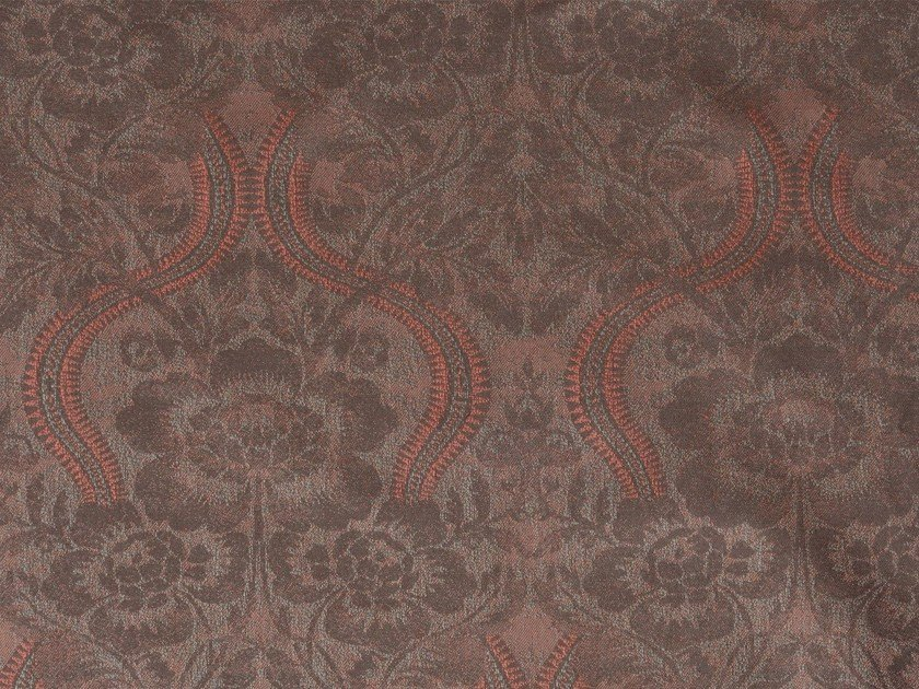 Damask cotton fabric LARAMIE VERSO by KOHRO