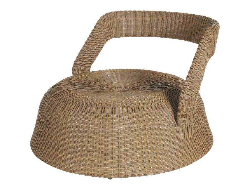Resin garden armchair PEBBLE | Garden armchair - Tectona