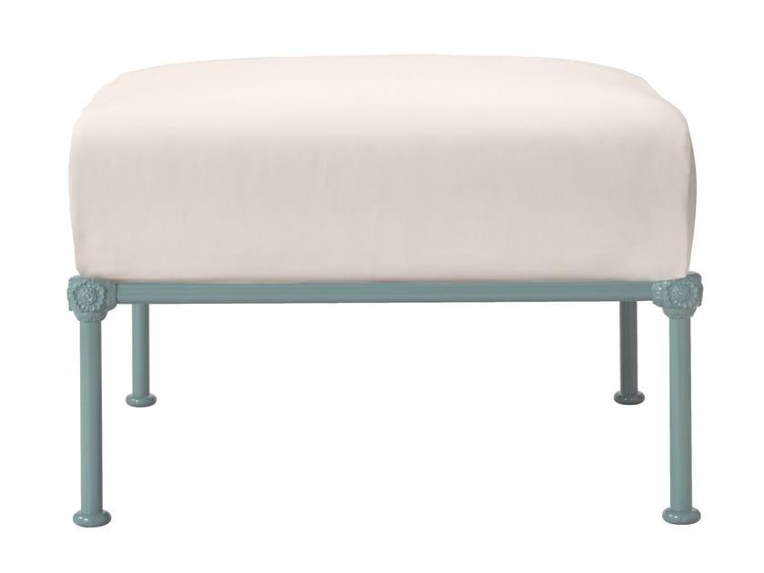Aluminium garden footstool 1800   Garden footstool - Tectona