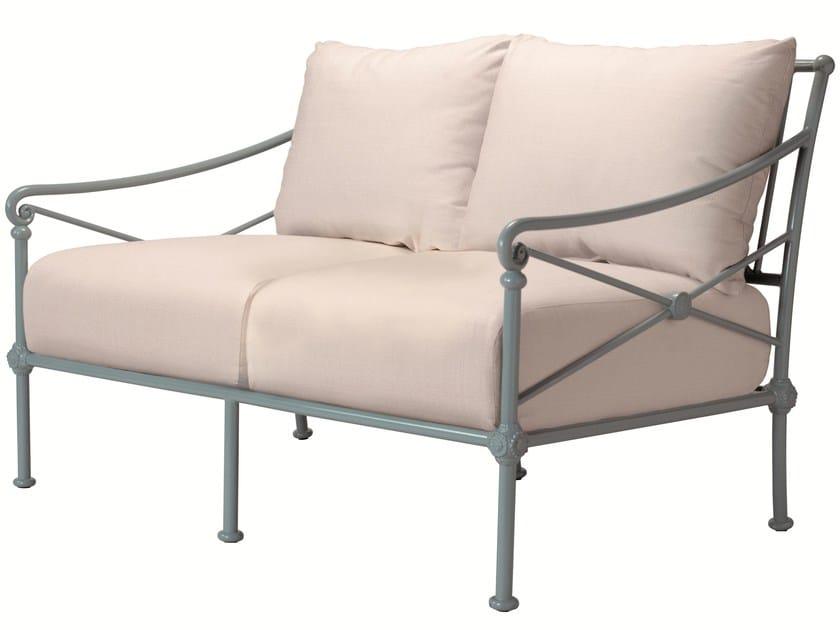 2 seater aluminium garden sofa 1800 | 2 seater sofa - Tectona