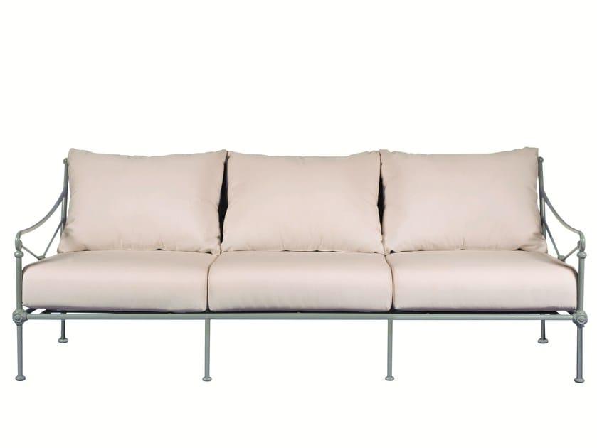 3 seater aluminium sofa 1800 | 3 seater sofa by Tectona