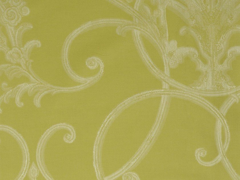 Damask cotton fabric FORCALQUIER - KOHRO