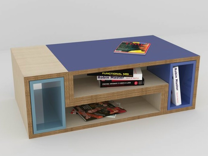 Modular rectangular multi-layer wood coffee table MÉLI-MÉLO | Modular coffee table - MALHERBE EDITION