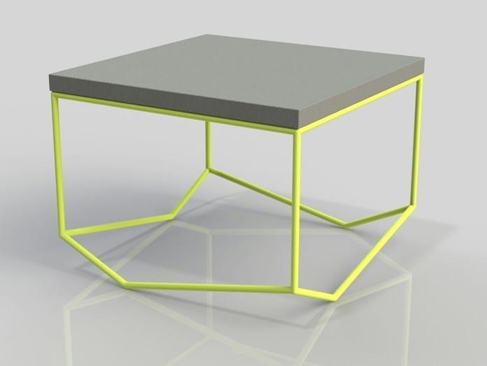Square cement coffee table LA BÉTON CARRÉE - MALHERBE EDITION