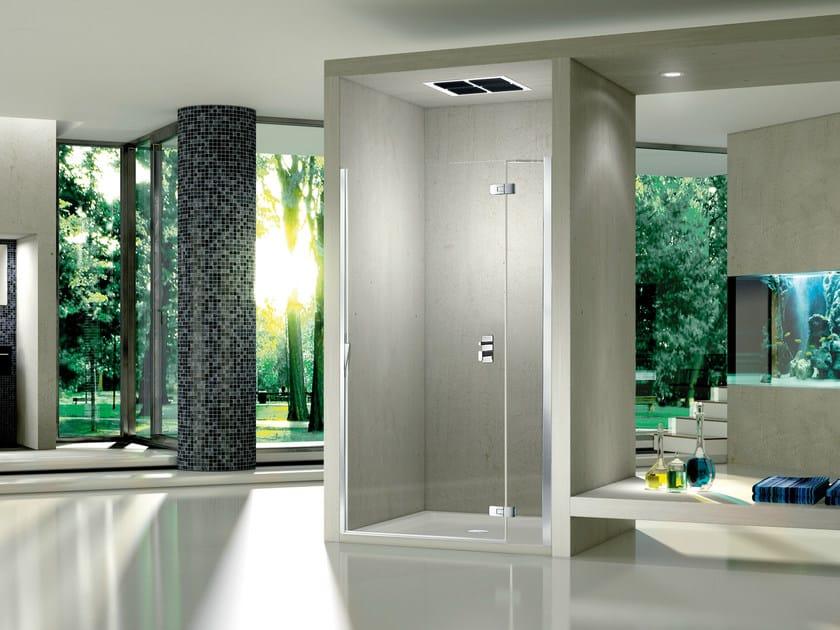Niche crystal shower cabin with hinged door PURA 5000 NEW | Niche shower cabin - DUKA