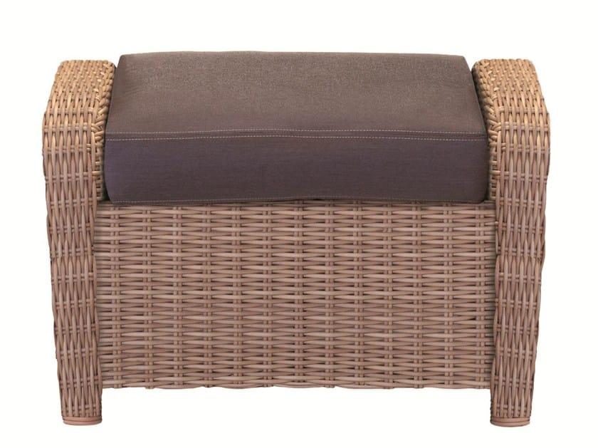 Rectangular resin garden footstool JAVA | Garden footstool - Tectona