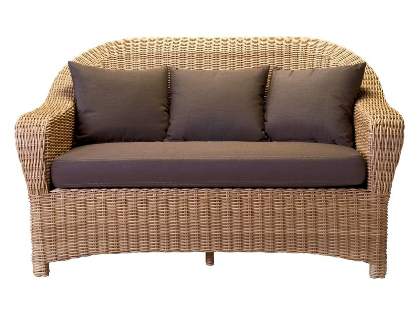 2 seater resin garden sofa JAVA | 2 seater sofa - Tectona