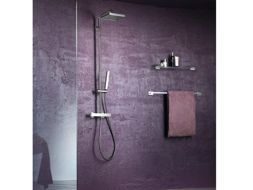 Thermostatic shower panel with overhead shower TOWER | Shower panel - Carlo Nobili Rubinetterie