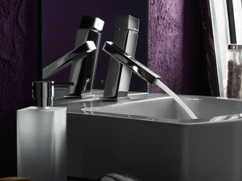 Chrome-plated single handle washbasin mixer TOWER | Washbasin mixer - Carlo Nobili Rubinetterie