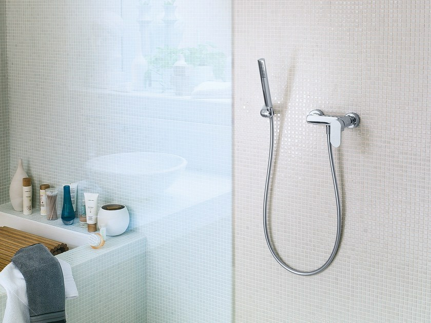 Chrome-plated single handle shower mixer with hand shower UP | Shower mixer with hand shower - Carlo Nobili Rubinetterie