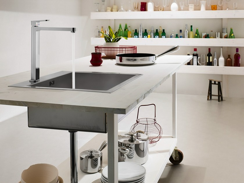 Chrome-plated kitchen mixer tap with swivel spout UP | Kitchen mixer tap by Nobili Rubinetterie