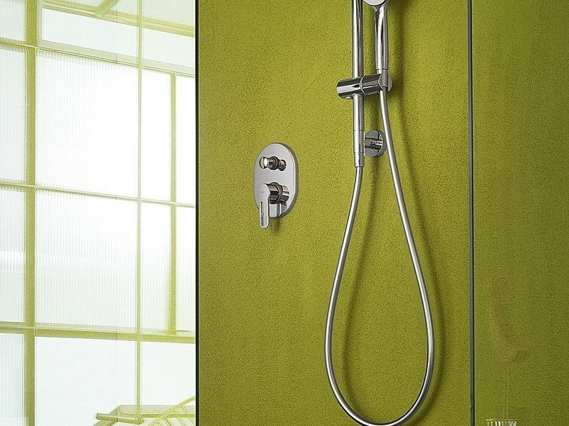 Chrome-plated shower mixer with diverter NEW ROAD | Shower mixer - Carlo Nobili Rubinetterie