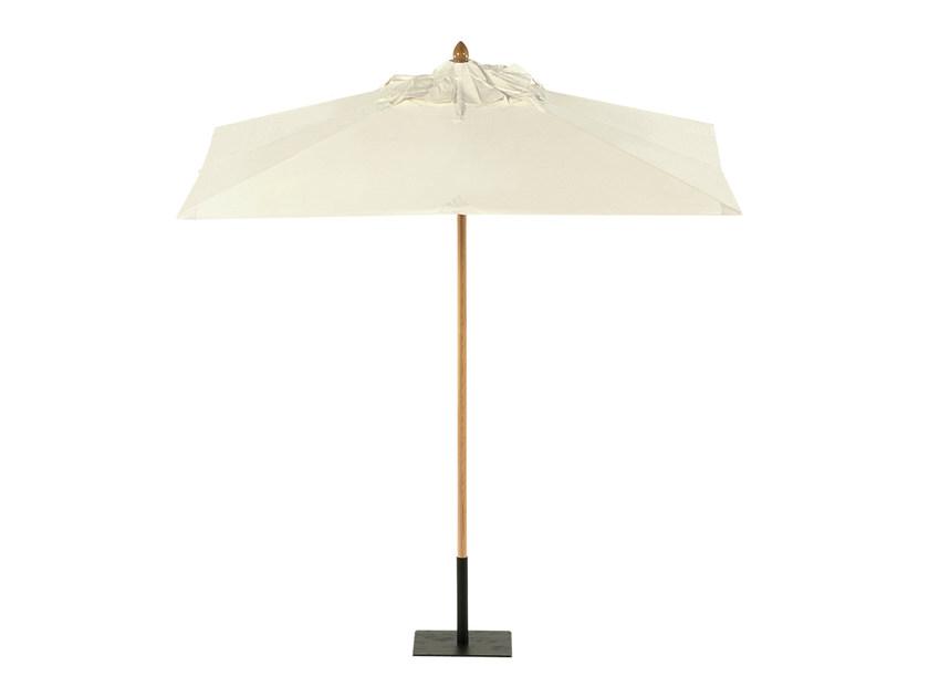Square Garden umbrella COTTON CANVAS | Square Garden umbrella - Tectona