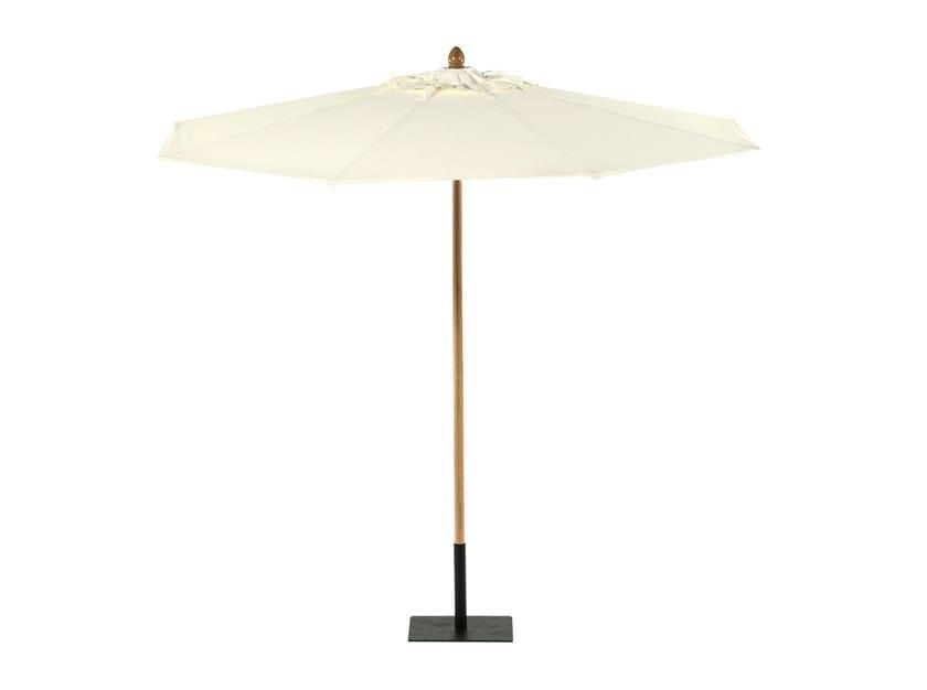 Round Garden umbrella COTTON CANVAS | Round Garden umbrella - Tectona