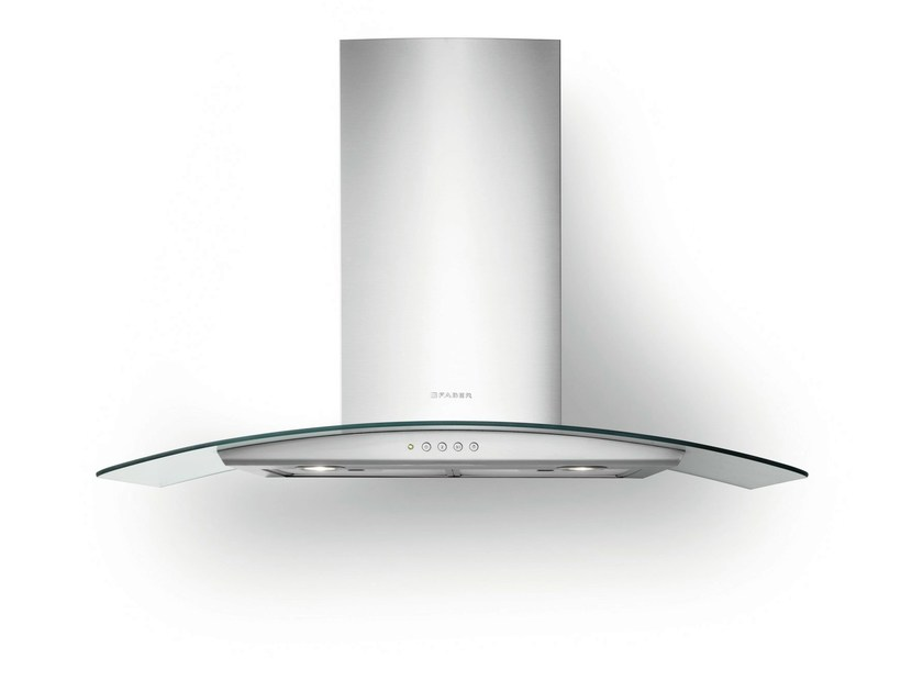 Wall-mounted Glass and Stainless Steel cooker hood TRATTO | Wall-mounted cooker hood - FABER