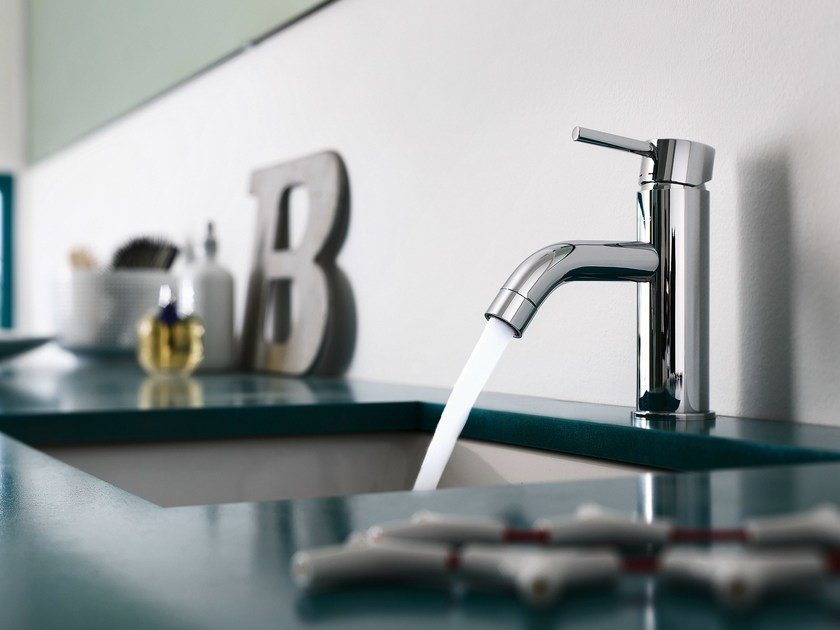 Chrome-plated single handle washbasin mixer LIVE | Chrome-plated washbasin mixer by Nobili Rubinetterie