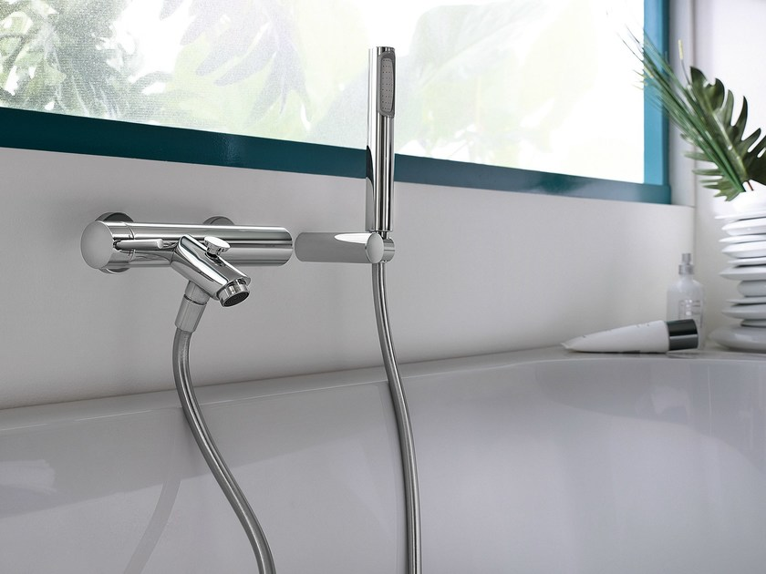 Wall-mounted chrome-plated single handle bathtub mixer LIVE | Bathtub mixer - Carlo Nobili Rubinetterie