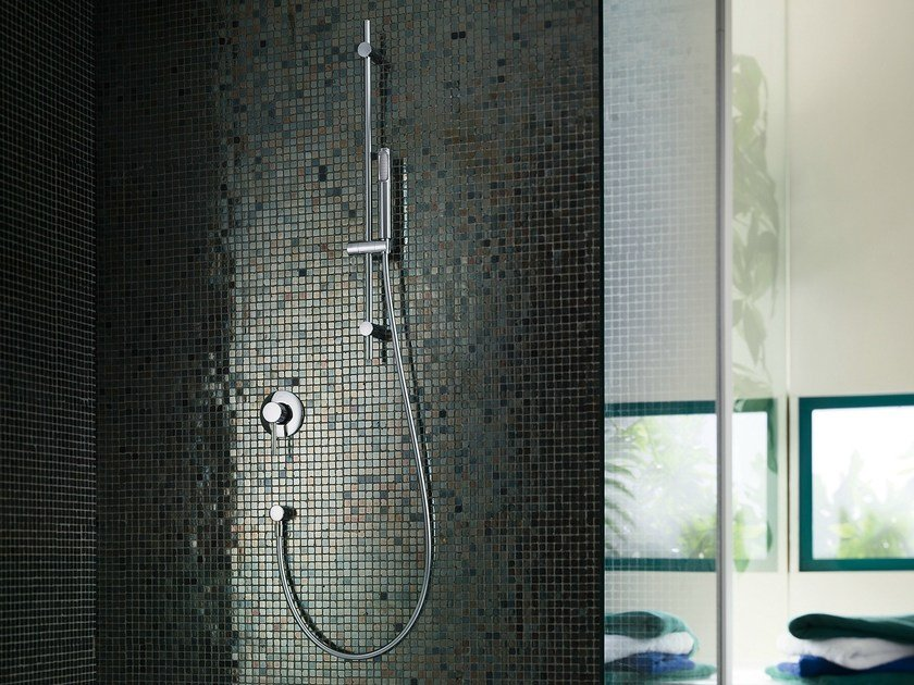 Chrome-plated single handle shower mixer LIVE | Shower mixer - Carlo Nobili Rubinetterie