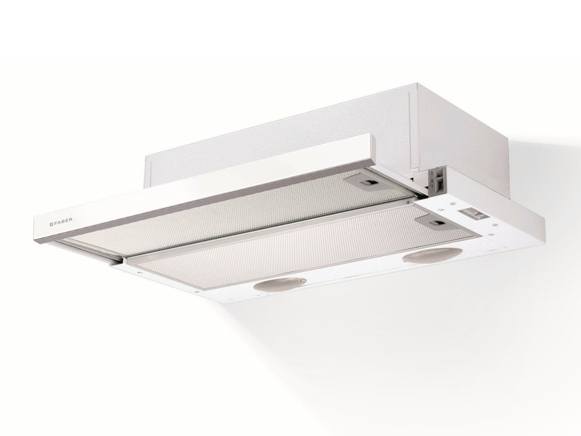 Slide-out built-in glass and iron cooker hood FLEXA GLASS - FABER