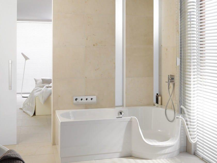 badewanne mit dusche mit t r bettetwist ii kollektion. Black Bedroom Furniture Sets. Home Design Ideas