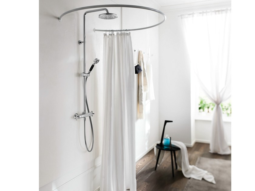 Thermostatic shower panel with overhead shower CARLOS PRIMERO | Shower panel - Carlo Nobili Rubinetterie