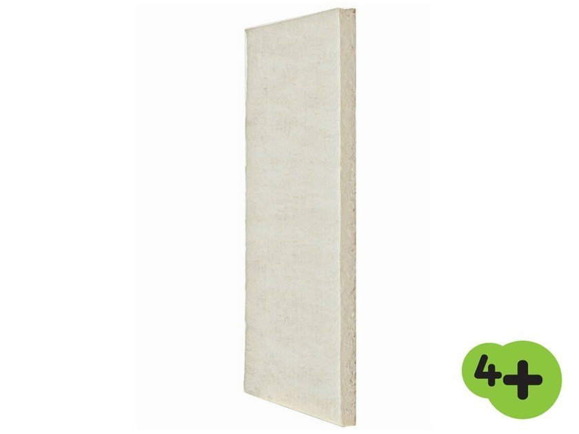 Glass wool Thermal insulation panel / Sound insulation and sound absorbing panel in mineral fibre MUPAN 4+ - MUPAN K 4+ by Saint-Gobain ISOVER