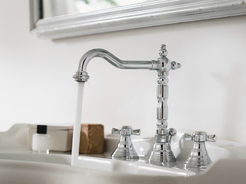 3 hole chrome-plated washbasin tap RITZ | 3 hole washbasin tap - Carlo Nobili Rubinetterie