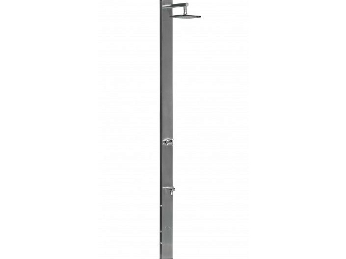 Stainless steel outdoor shower SQUADRA - Tectona